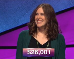 Jessica Holloway, today's Jeopardy! winner (for the January 8, 2019 game.)