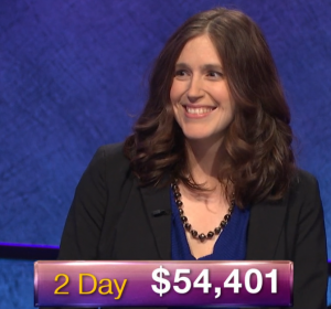 Jessica Holloway, today's Jeopardy! winner (for the January 9, 2019 game.)