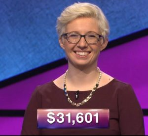 Jill Regan, today's Jeopardy! winner (for the January 28, 2019 game.)