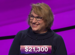 Joan Dietrich, today's Jeopardy! winner (for the January 30, 2019 episode.)