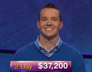 John Presloid, today's Jeopardy! winner (for the January 17, 2019 game.)