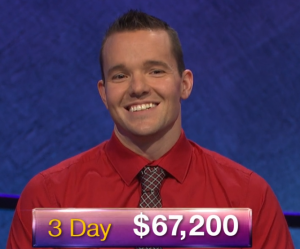 John Presloid, today's Jeopardy! winner (for the January 18, 2019 game.)