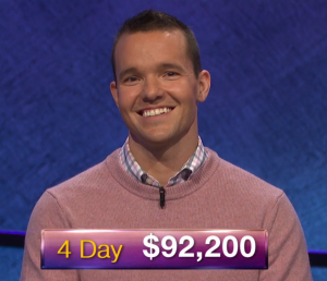 John Presloid, today's Jeopardy! winner (for the January 21, 2019 game.)