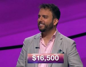 Jonathan Dinerstein, today's Jeopardy! winner (for the January 1, 2019 episode.)