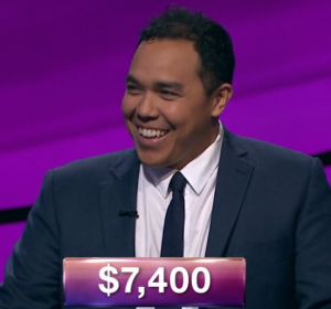 Zorn Pink, today's Jeopardy! winner (for the January 7, 2019 game.)