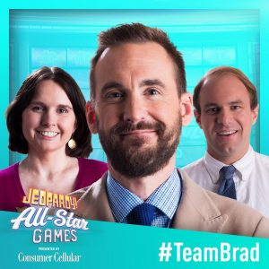 Team Brad in the 2019 Jeopardy! All-Star Games