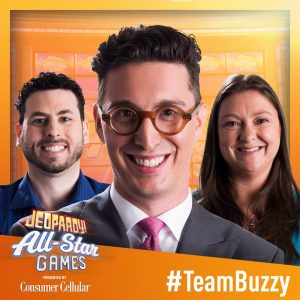 Team Buzzy in the 2019 Jeopardy! All-Star Games