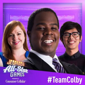 Team Colby in the 2019 Jeopardy! All-Star Games