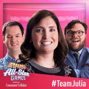 Team Julia at the 2019 Jeopardy! All Star Games