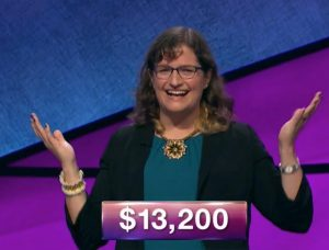Amanda Holm, today's Jeopardy! winner (for the February 15, 2019 episode.)