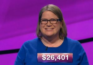 Dana Wayne, today's Jeopardy! winner (for the February 19, 2019 game.)