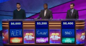 Today's Jeopardy! results (from the August 26, 2019 game.)