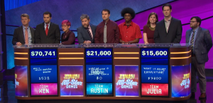 Today's Jeopardy! results (for the September 2, 2019 game.)