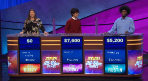 Today's Jeopardy! results (for the September 3, 2019 game.)