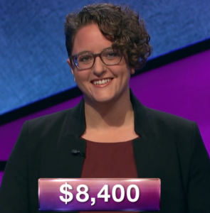 Rachel Fabi, today's Jeopardy! winner (for the February 18, 2019 game.)