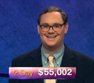 Will Dawson, today's Jeopardy! winner (for the February 4, 2019 game.)