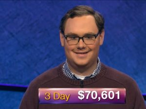 Will Dawson, today's Jeopardy! winner (for the February 5, 2019 game.)