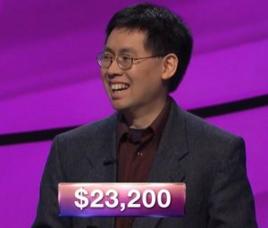 Barton Wong, today's Jeopardy! winner (for the March 12, 2019 game.)