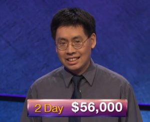 Barton Wong, today's Jeopardy! winner (for the March 13, 2019 game.)
