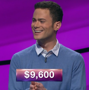 Conor Murphy, today's Jeopardy! winner (for the March 8, 2019 game.)