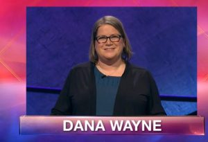 Dana Wayne on the March 6, 2019 episode of Jeopardy!
