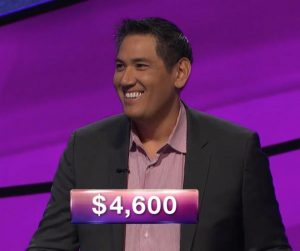 Dave Scatena, today's Jeopardy! winner (for the March 22, 2019 game.)