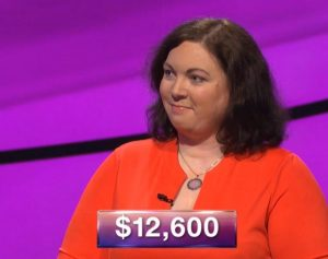 Emma Badame, today's Jeopardy! winner (for the March 26, 2019 game.)
