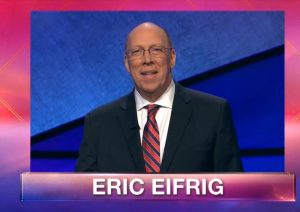 Eric Eifrig on the March 6, 2019 episode of Jeopardy!