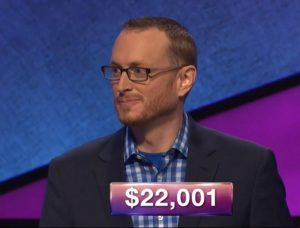 Jonathan Lindeen, today's Jeopardy! winner (for the March 20, 2019 game.)