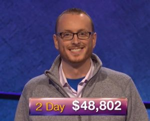 Jonathan Lindeen, today's Jeopardy! winner (for the March 21, 2019 game.)
