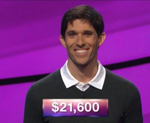 Steven Grade, today's Jeopardy! winner (for the March 27, 2019 game.)