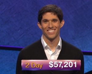Steven Grade, today's Jeopardy! winner (for the June 30, 2020 game.)