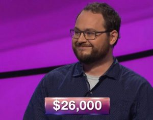 Alex Koral, today's Jeopardy! winner (for the April 3, 2019 game.)
