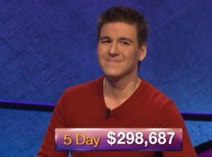 James Holzhauer, today's Jeopardy! winner (for the April 10, 2019 game.)
