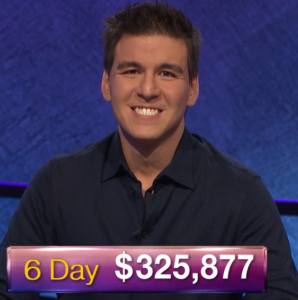 James Holzhauer, today's Jeopardy! winner (for the April 11, 2019 game.)