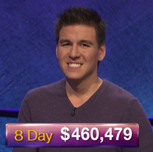 James Holzhauer, today's Jeopardy! winner (for the April 15, 2019 game.)