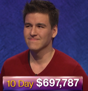 James Holzhauer, today's Jeopardy! winner (for the April 17, 2019 game.)