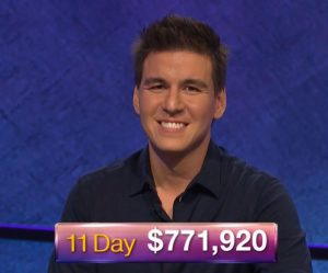James Holzhauer, today's Jeopardy! winner (for the April 18, 2019 game.)