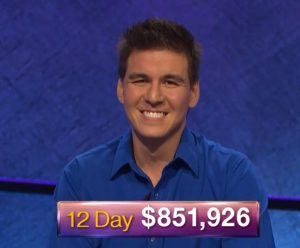 James Holzhauer, today's Jeopardy! winner (for the April 19, 2019 game.)