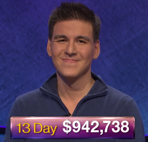 James Holzhauer, today's Jeopardy! winner (for the April 22, 2019 game.)