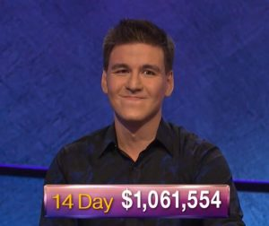 James Holzhauer, today's Jeopardy! winner (for the April 23, 2019 game.)