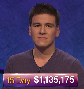 James Holzhauer, today's Jeopardy! winner (for the April 24, 2019 game.)