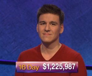 James Holzhauer, today's Jeopardy! winner (for the April 25, 2019 game.)
