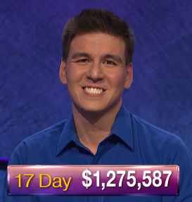 James Holzhauer, today's Jeopardy! winner (for the April 26, 2019 game.)