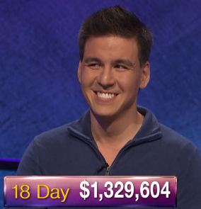 James Holzhauer, today's Jeopardy! winner (for the April 29, 2019 game.)