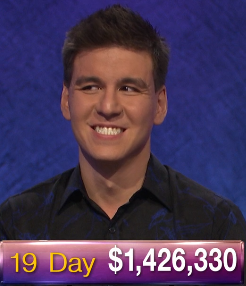 James Holzhauer, today's Jeopardy! winner (for the April 30, 2019 game.)