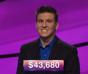 James Holzhauer, today's Jeopardy! winner (for the April 4, 2019 game.)