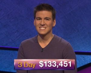 James Holzhauer, today's Jeopardy! winner (for the April 8, 2019 game.)