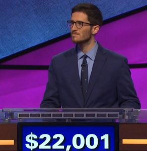 Benjamin Schwartz, today's Jeopardy! winner (for the August 16, 2019 game.)