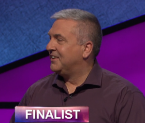 Francois Barcomb, today's Jeopardy! winner (for the May 14, 2019 game.)